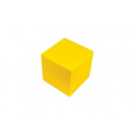 Matériel numération base 10 : 1 millier jaune