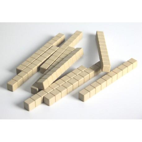 Matériel de numération base 10 en bois recyclé :10 dizaines