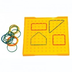 Géoplan jaune 2 faces 23 cm x 23 cm