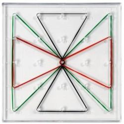 Géoplan transparent 1 face 15 cm x 15 cm