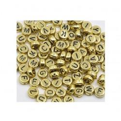 100 Perles Lettres Dorées