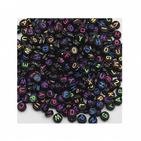 100 Perles Lettres Noires