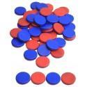 50 Jetons bicolores en plastique recyclé