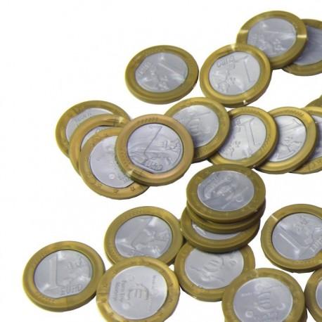 25 pièces de monnaie de 1 €