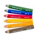 Crayons pour ardoise 6 couleurs
