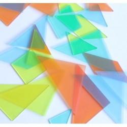 Lot de 4 Tangrams translucides