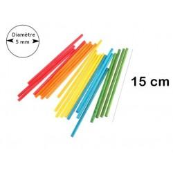 Bâtonnets cylindriques colorés