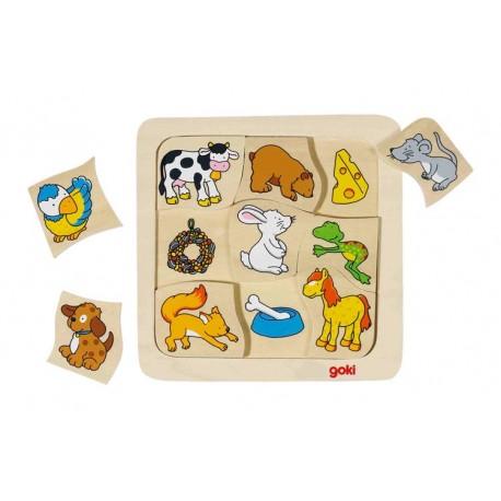 Puzzle Qui mange quoi ?