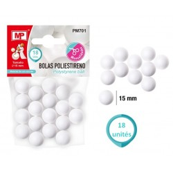 Boules de Polystyrène 15 mm