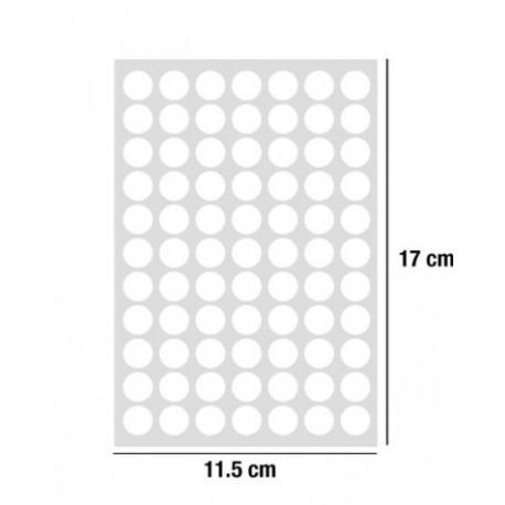 Gommettes blanches adhésives 13 mm
