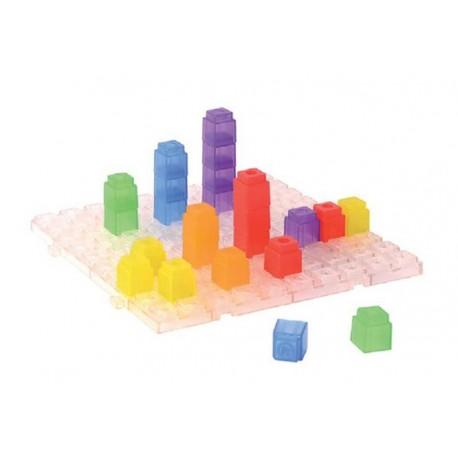 Cubes de comptage, translucides