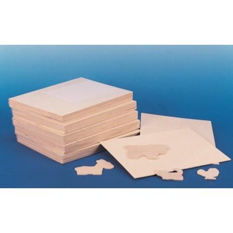 10 Plaques de bois pour activités manuelles