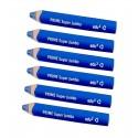 6 Crayons Bleus Prime Super Jumbo