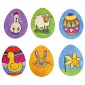 6 Grands Tampons de Pâques