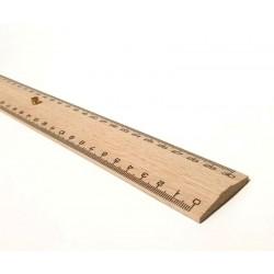 Triple décimètre en bois