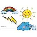 Symboles du temps pour vitres