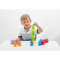 Set de 18 boites colorées