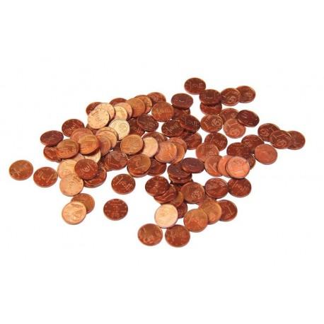 100 pièces de 1 centime d'euros