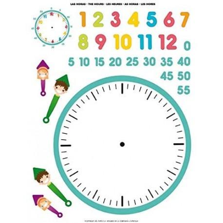 Gommettes Horloge